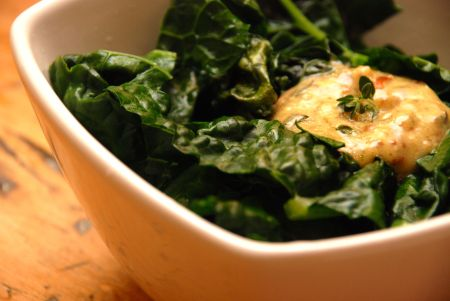 Kale with Mustard Sauce