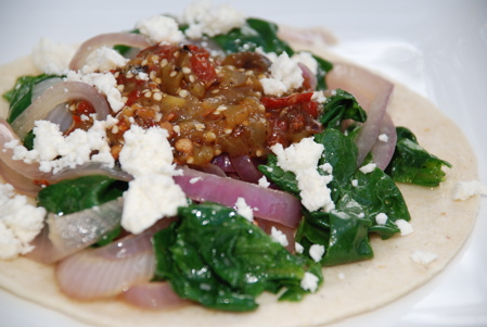 Swiss Chard Tacos with Smoky Chipotle Salsa