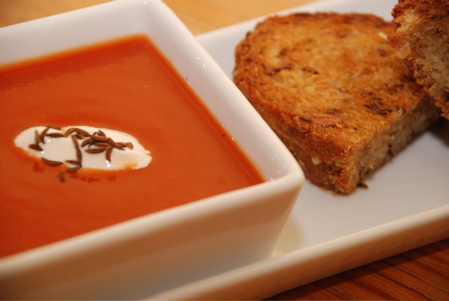 Tomato Soup and Grilled Cheese Sandwiches
